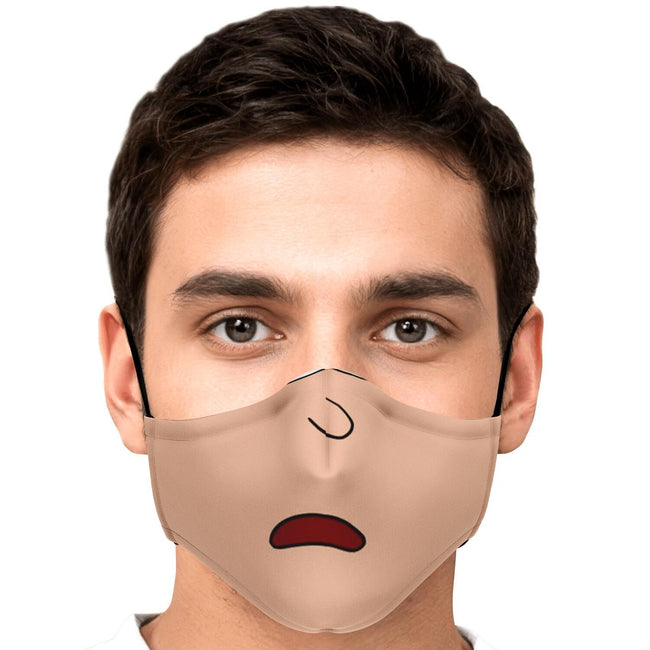 Cartoon Morty Half Face Rick and Morty Premium Carbon Filter Face Mask