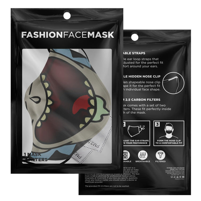 Cartoon Rick Half Face Rick and Morty Premium Carbon Filter Face Mask
