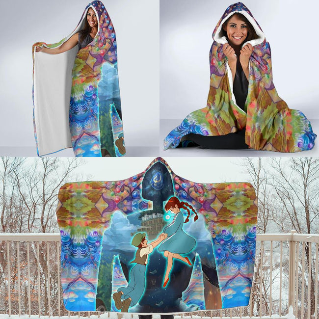 Castle in the Sky Hooded Blanket