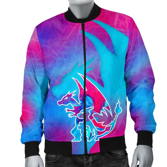 Charizard Evalution Pokemon Custom Bomber Jacket