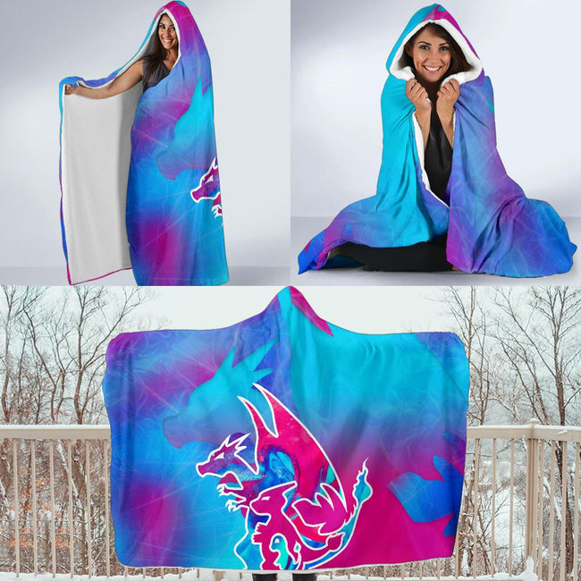 Charizard Evalution Pokemon Hooded Blanket