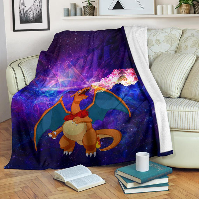 Charizard On Fire Pokemon Blanket