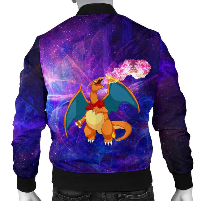 Charizard On Fire Pokemon Custom Bomber Jacket