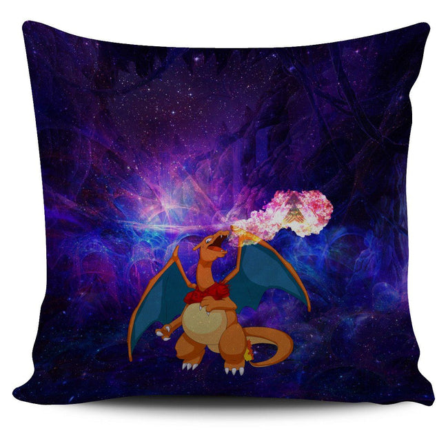 Charizard On Fire Pokemon Pillow Cover