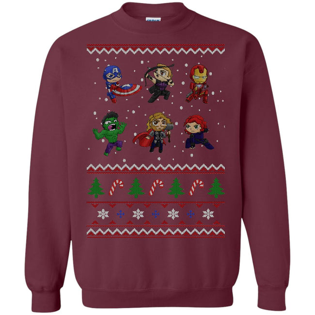 Chibi Avengers Ugly Christmas Sweater