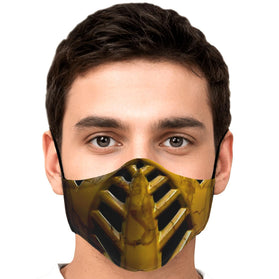 Classic Scorpion Mask Mortal Kombat Premium Carbon Filter Face Mask