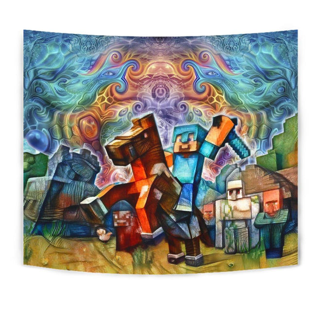 Cosmic Minecraft Tapestry