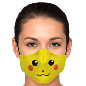 Cute Picachu Pokémon Premium Carbon Filter Face Mask