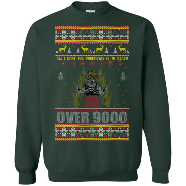 DBZ Over 9000 Ugly Christmas Sweater