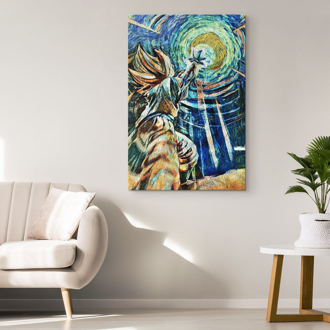 DBZ Starry Night Kamehameha Canvas Wall Art