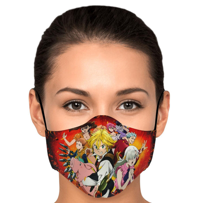 Deadly Moves Seven Deadly Sins Premium Carbon Filter Face Mask