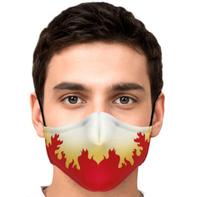 Demon Slayer Kyojuro Pattern Premium Carbon Filter Face Mask
