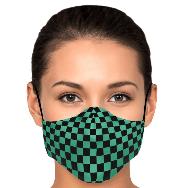 Demon Slayer Tanjirou Pattern Premium Carbon Filter Face Mask