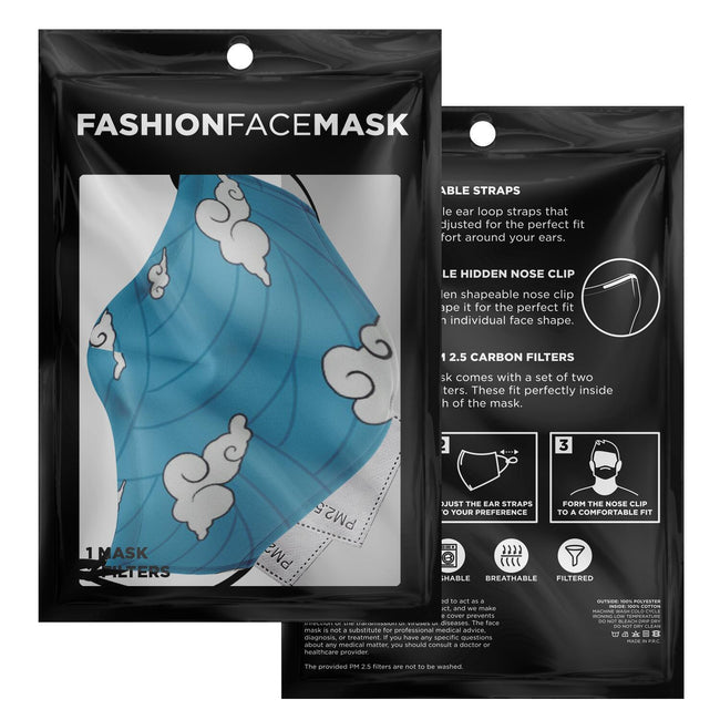 Demon Slayer Urokodaki Pattern Premium Carbon Filter Face Mask