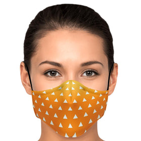 Demon Slayer Zenitsu Pattern Premium Carbon Filter Face Mask