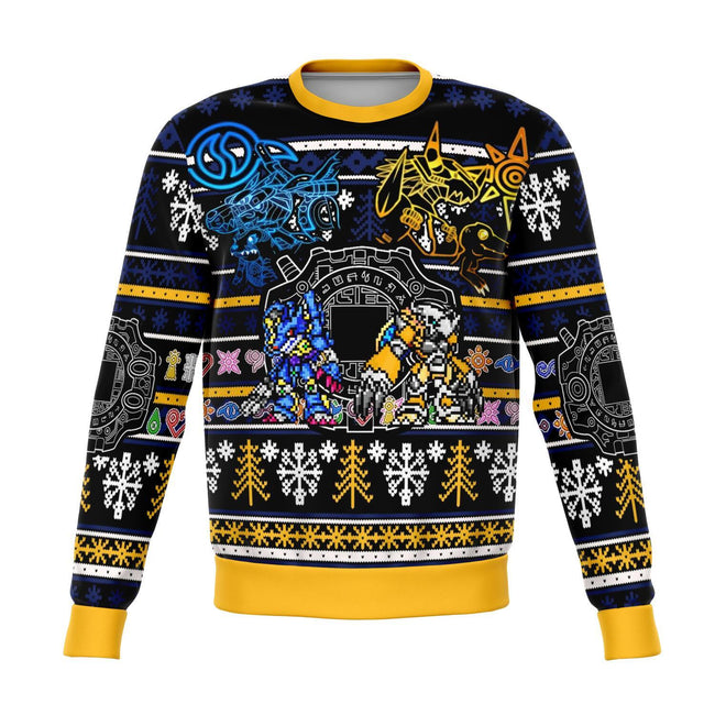 Digimon 3D Ugly Christmas Sweater