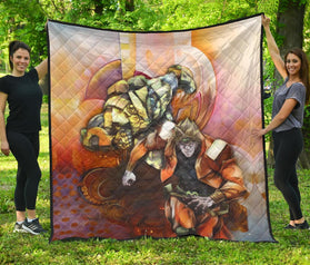 Dio Brando The World Jojo's Bizarre Adventure Premium Quilt Blanket