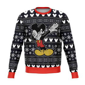 Disney Mickey Dabbing 3D Ugly Christmas Sweater
