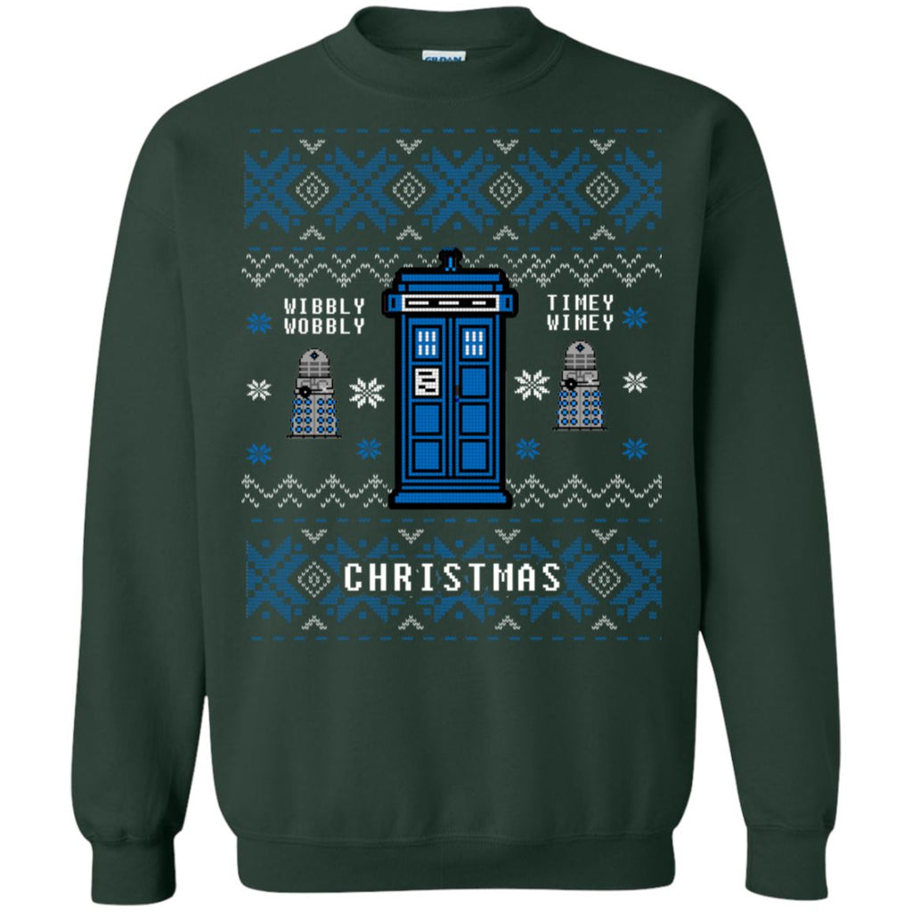 Doctor Who Wibbly Wobbly Ugly Christmas Sweater