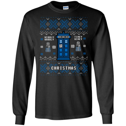 Image of Doctor Who Wibbly Wobbly Ugly Christmas Sweater