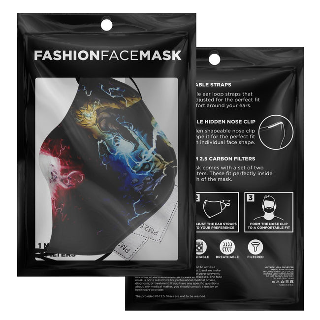 Dragonball Z Goku vs Freiza Premium Carbon Filter Face Mask