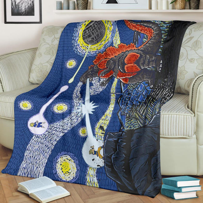 Epic Battle Dragonball Z Starry Night Blanket