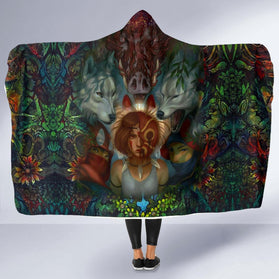 Fearless mononoke Hooded Blanket