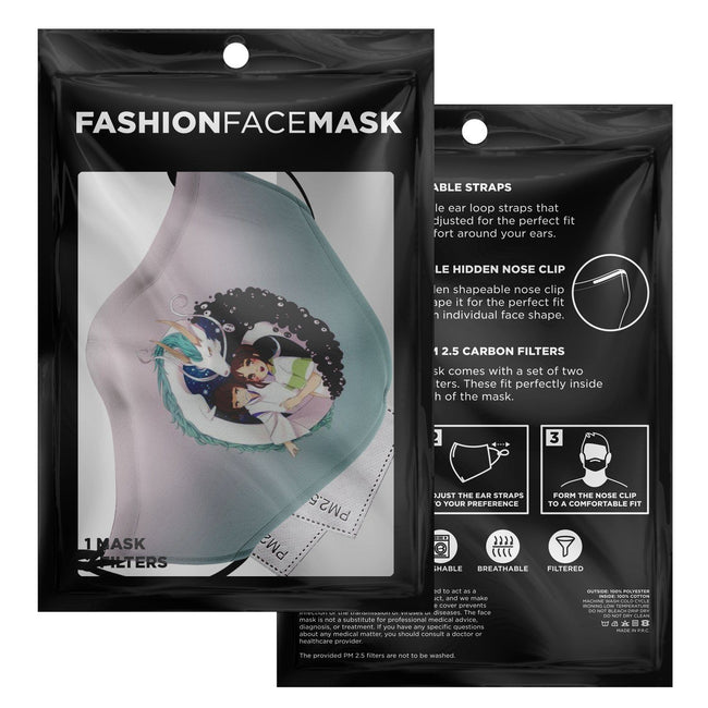 Fictional Characters V1 Spirited Away Premium Carbon Filter Face Mask