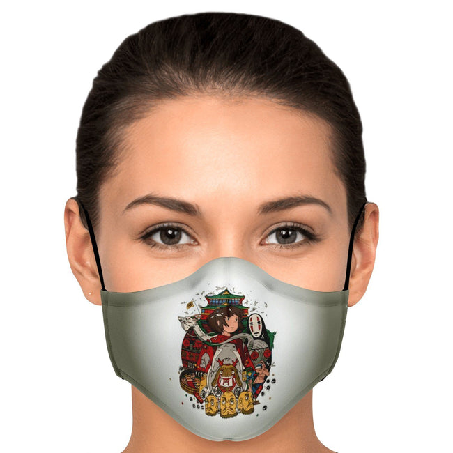 Fictional Characters V2 Spirited Away Premium Carbon Filter Face Mask