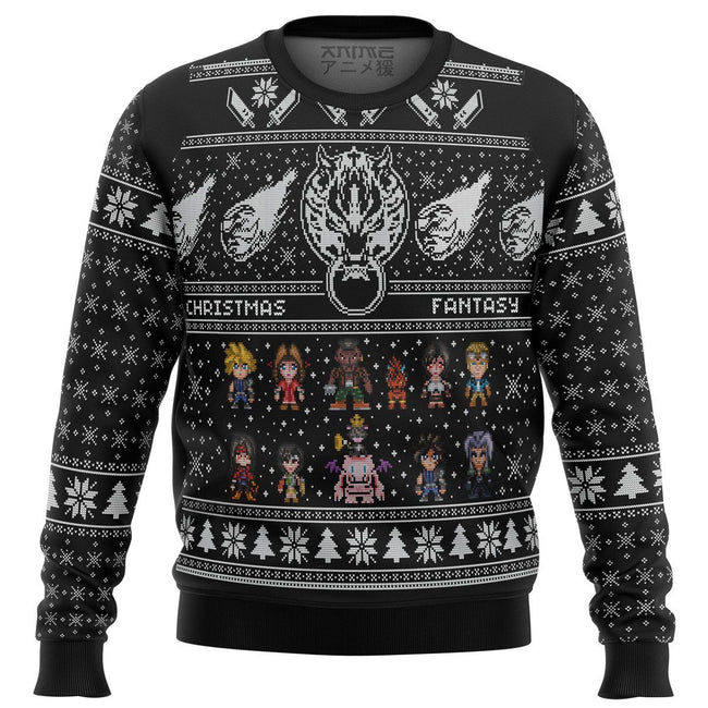 Final Fantasy 7 VII FF7 Premium Ugly Christmas Sweater