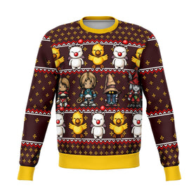 Final Fantasy Classic 8bit Premium Ugly Christmas Sweater