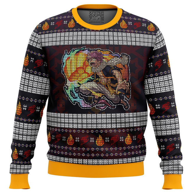 Fire Dragon's Iron Fist Dragneel Natsu Fairy Tail Premium Ugly Christmas Sweater