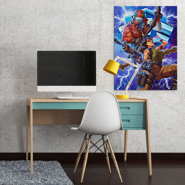Fortnite Characters Canvas Wall Art