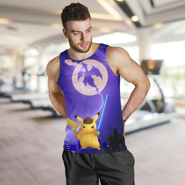Pikachu With Sword Pokemon Premium Tank Top