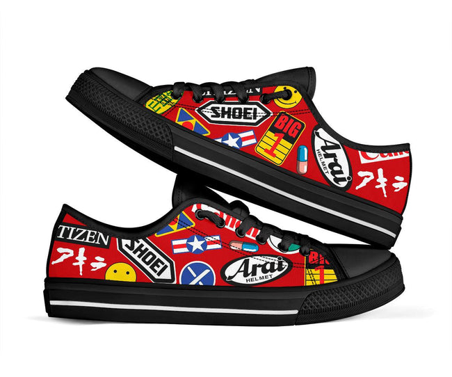 Full Decals Akira Custom Low Top Canvas Shoes