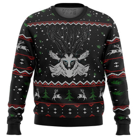 Ghibli Forest Spirit Premium Ugly Christmas Sweater