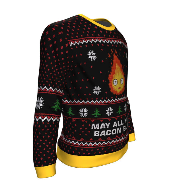Ghibli May All Your Bacon Burn 3D Ugly Christmas Sweater