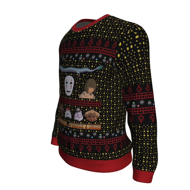 Ghibli Spirited 3D Ugly Christmas Sweater