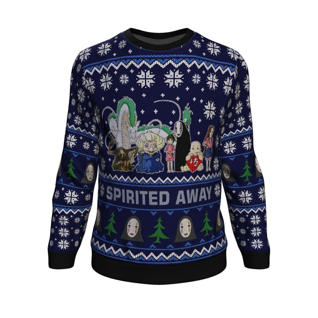 Ghibli Spirited Away 3D Ugly Christmas Sweater