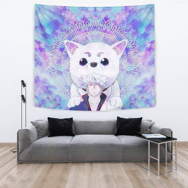 Gintoki and Sadaharu Gintama Wall Tapestry