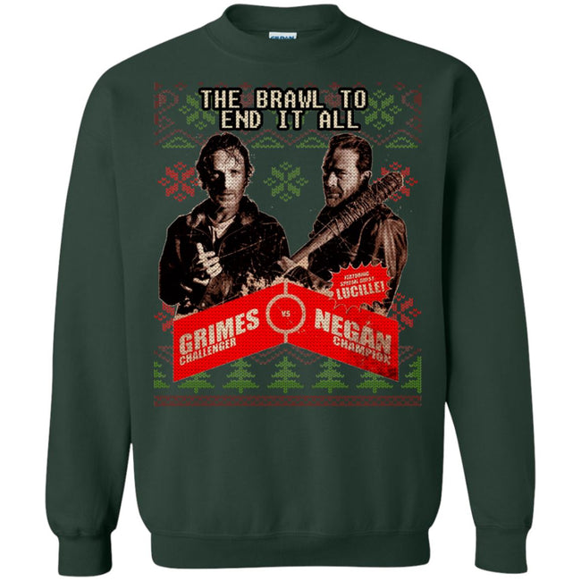 Grimes vs Negan Ugly Christmas Sweater