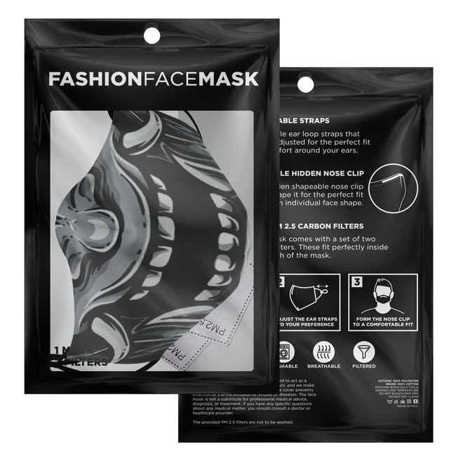 Hannya Mask V2 Onmyoji Arena Premium Carbon Filter Face Mask