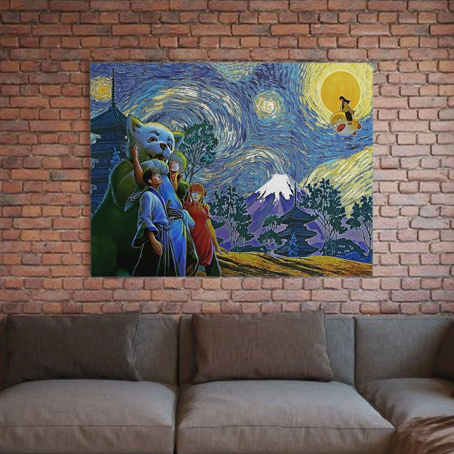 Happy Bonding Gintama Starry Night Deluxe Gallery Wrap Canvas Wall Art