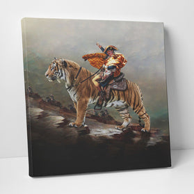 Joe Exotic Crossing The Alps Tiger King Deluxe Gallery Wrap Canvas Wall Art