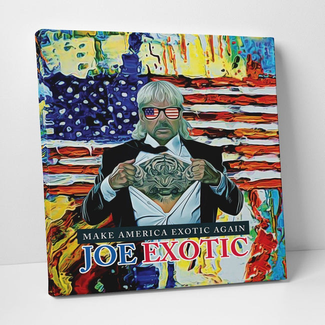 Joe Exotic Paint Deluxe Gallery Wrap Canvas Wall Art