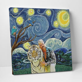 Joe Exotic Starry Night Deluxe Gallery Wrap Canvas Wall Art