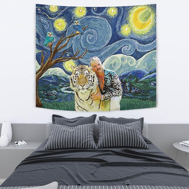 Joe Exotic Starry Night Wall Tapestry