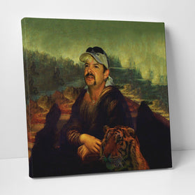 Joe-na Lisa Painting Deluxe Gallery Wrap Canvas Wall Art