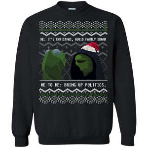 Kermit Family Drama Ugly Christmas Sweater