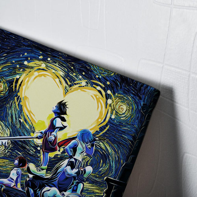 Kingdom Hearts Starry Night Canvas Wall Art